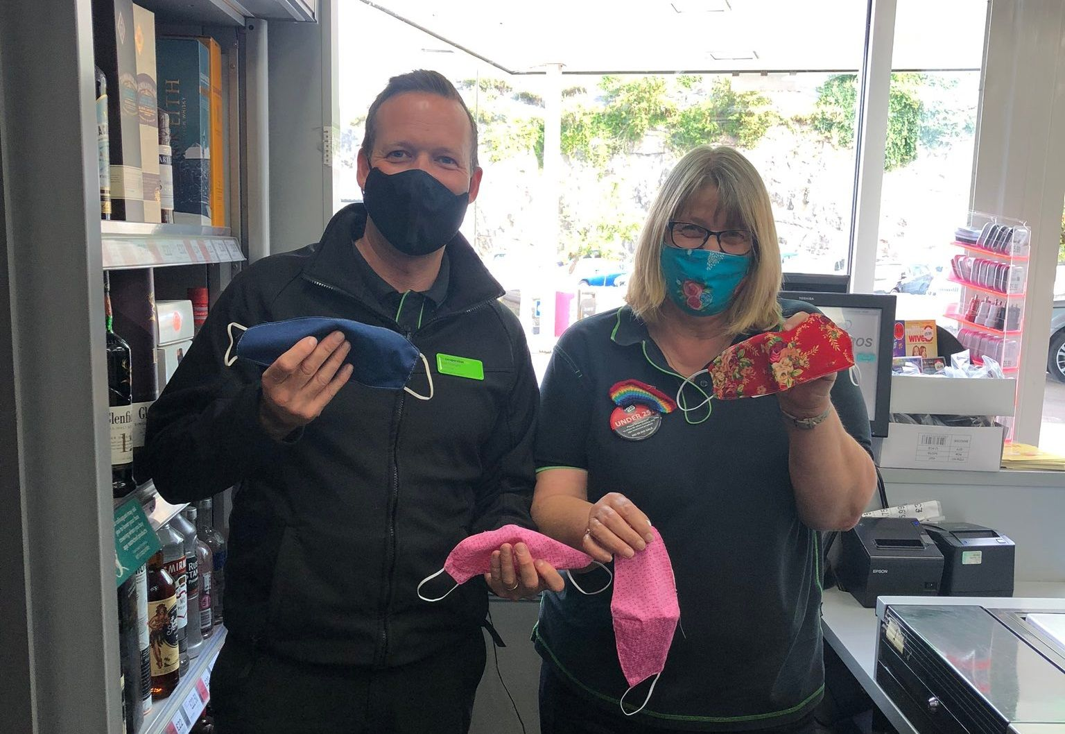 Crafty colleague turns her skills to making face coverings for charity