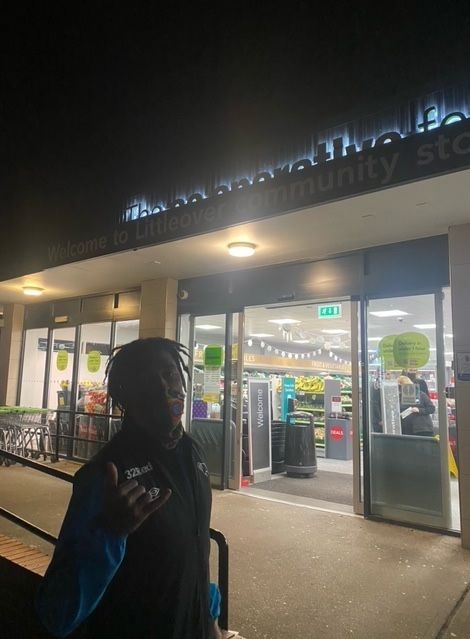Rams star celebrates his weekend winning goal with a visit to his local Co-op